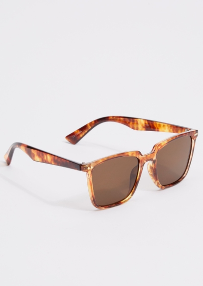 tortoise print frame sunglasses - Main Image