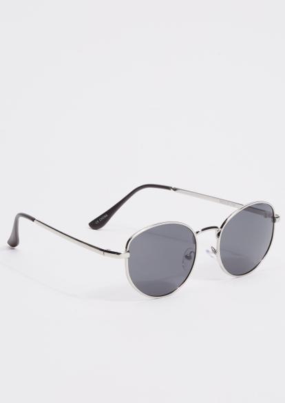 silver round lense sunglasses - Main Image
