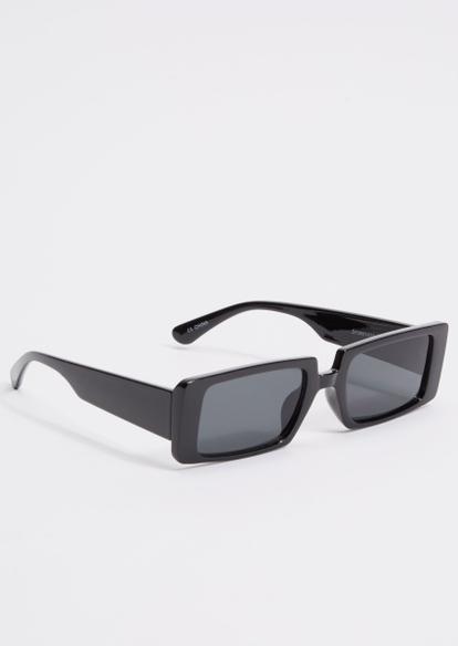 black chunky square frame sunglasses - Main Image