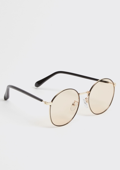 tan round sunglasses - Main Image