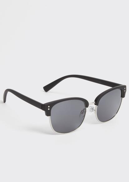 silver square sunglasses - Main Image