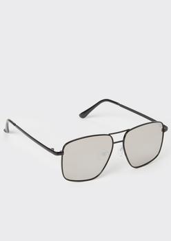 black navigator square sunglasses - Main Image