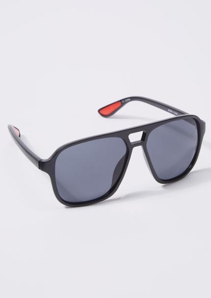 black aviator sunglasses - Main Image