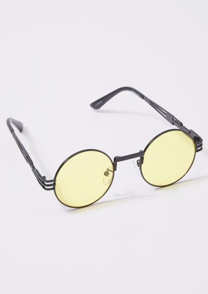 yellow lens round sunglasses - Main Image