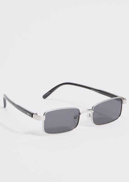 silver micro square sunglasses - Main Image