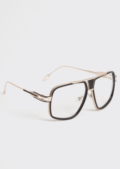 gold clear navigator sunglasses - Main Image