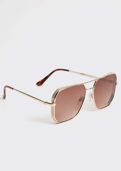 brown navigator sunglasses - Main Image