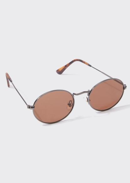 brown lens round sunglasses - Main Image