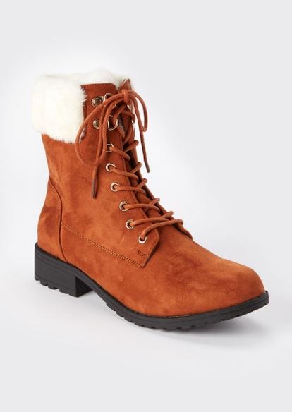 camel double buckle heeled booties - Main Image