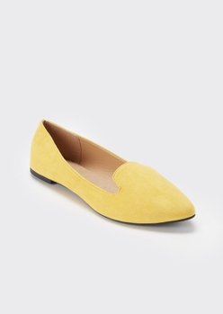 mustard pointed toe loafer - Main Image