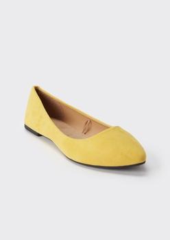 yellow pointed toe flats - Main Image