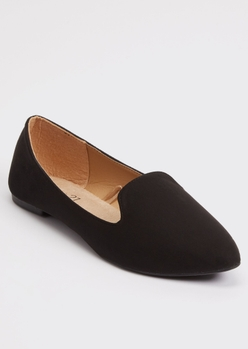 black faux suede loafer - Main Image
