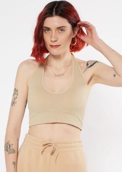 nude seamless halter bra - Main Image