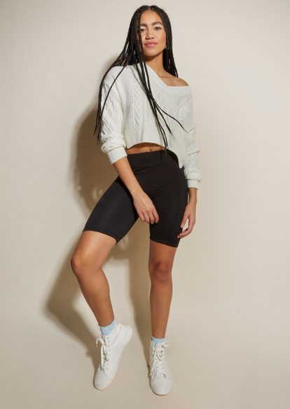 black cell phone pocket bike shorts - Main Image