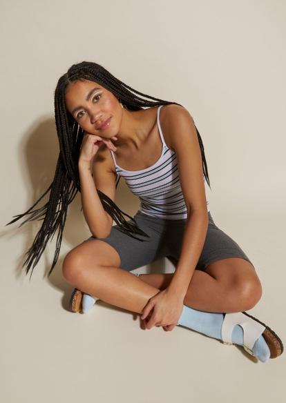gray cell phone pocket bike shorts - Main Image