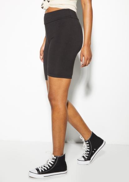 black essential bike shorts - Main Image