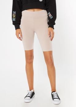 taupe essential bike shorts - Main Image