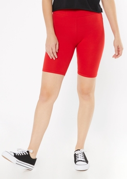 red essential bike shorts - Main Image