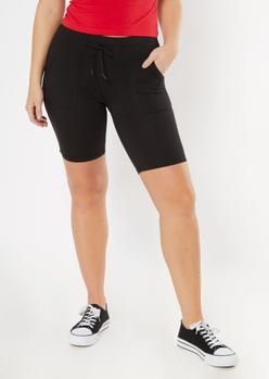 black front pocket bike shorts - Main Image