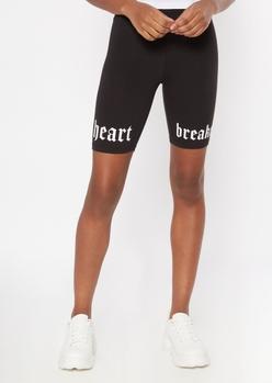 black heart breaker bike shorts - Main Image
