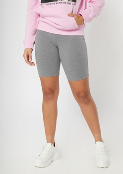 heather gray super soft bike shorts - Main Image