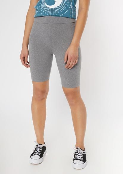 gray cell pocket long bike shorts - Main Image