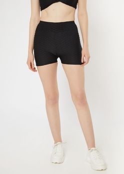 black honeycomb shorts - Main Image