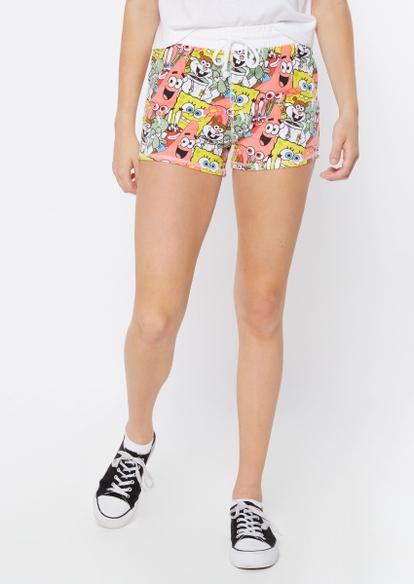 spongebob print sweat shorts - Main Image