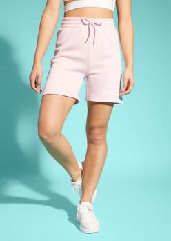 pink angel energy long fleece shorts - Main Image