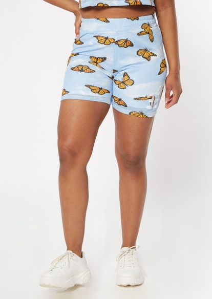 blue butterfly jersey shorts - Main Image