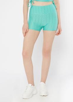mint honeycomb shorts - Main Image