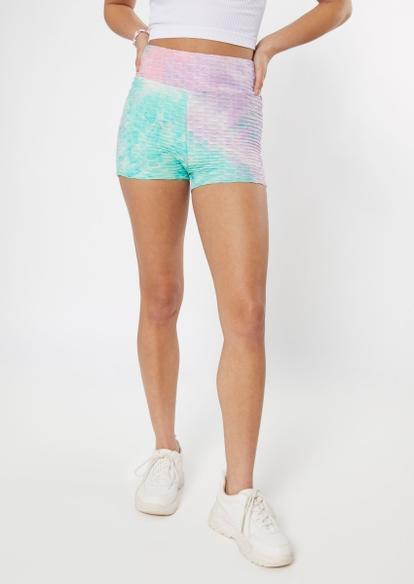 mermaid tie dye cinch bum honeycomb shorts - Main Image