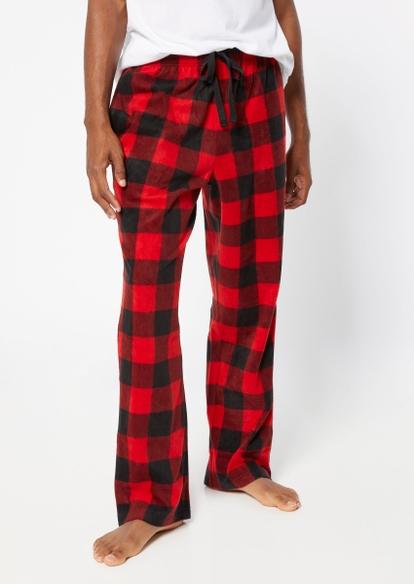 red buffalo plaid pajama pants - Main Image