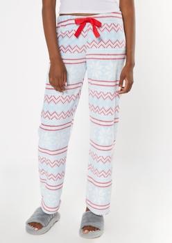 light blue fair ilse plush sleep pants - Main Image
