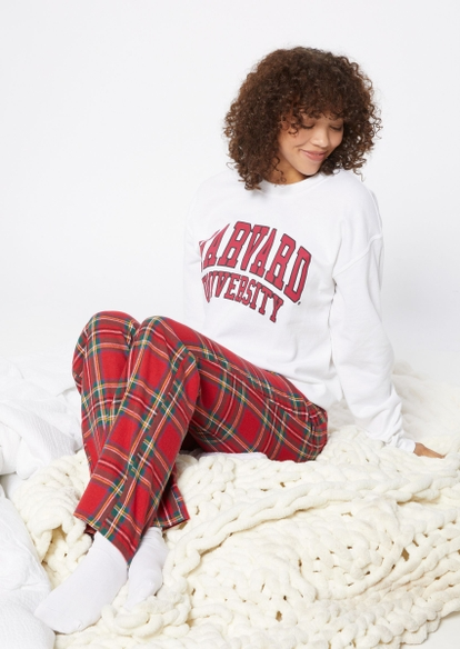 red flannel pajama pants - Main Image