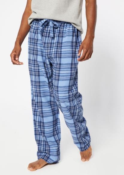 blue flannel pajama pants - Main Image
