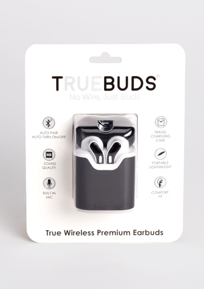 graphite black truebuds wireless earbuds - Main Image