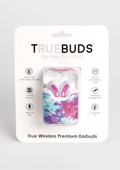 purple tie dye truebuds wireless earbuds - Main Image