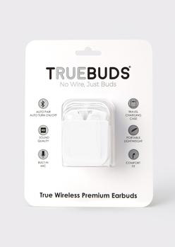 matte white wireless earbuds - Main Image
