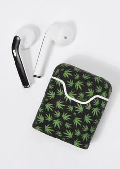 black weed print truebuds wireless earbuds - Main Image