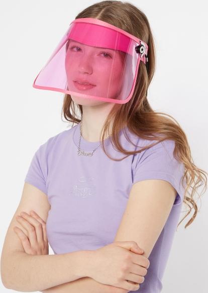 pink transparent face shield - Main Image