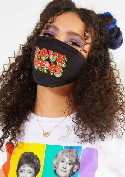 love wins graphic face mask - Main Image