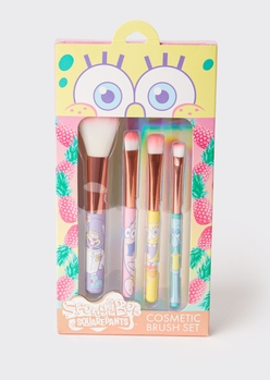 4-pack spongebob squarepants makeup brush set - Main Image
