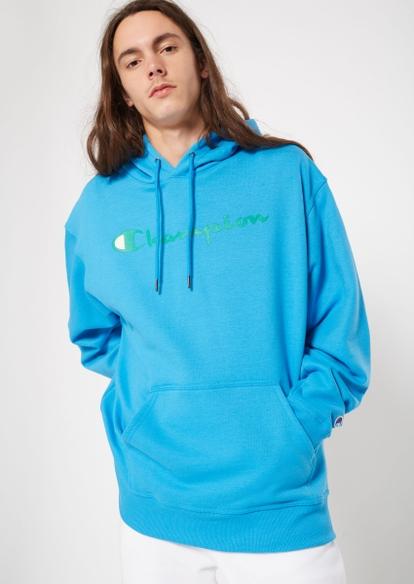 champion blue logo hoodie - Main Image
