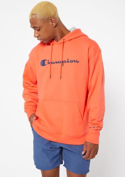 champion orange logo hoodie - Main Image