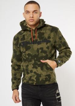 champion camo print sherpa hoodie - Main Image