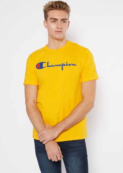 champion gold scripted logo graphic tee - Main Image