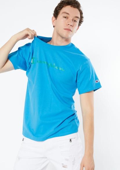 champion logo blue graphic tee - Main Image