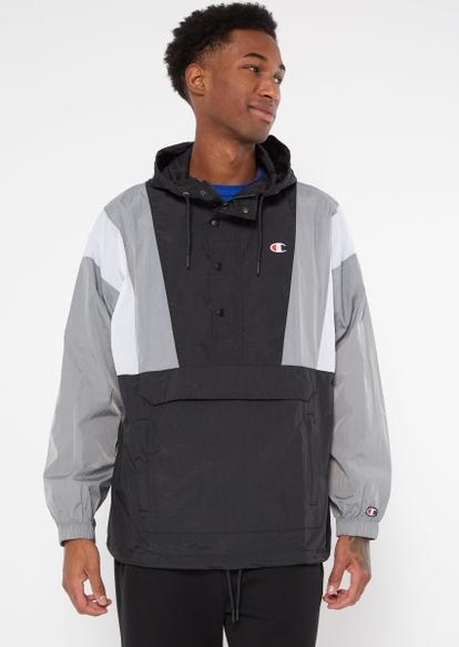 champion black colorblock anorak jacket - Main Image