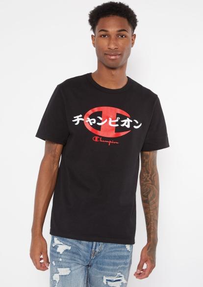 champion black kanji graphic tee - Main Image
